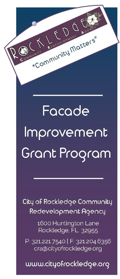 Facade Improvement Grant Program Flyer