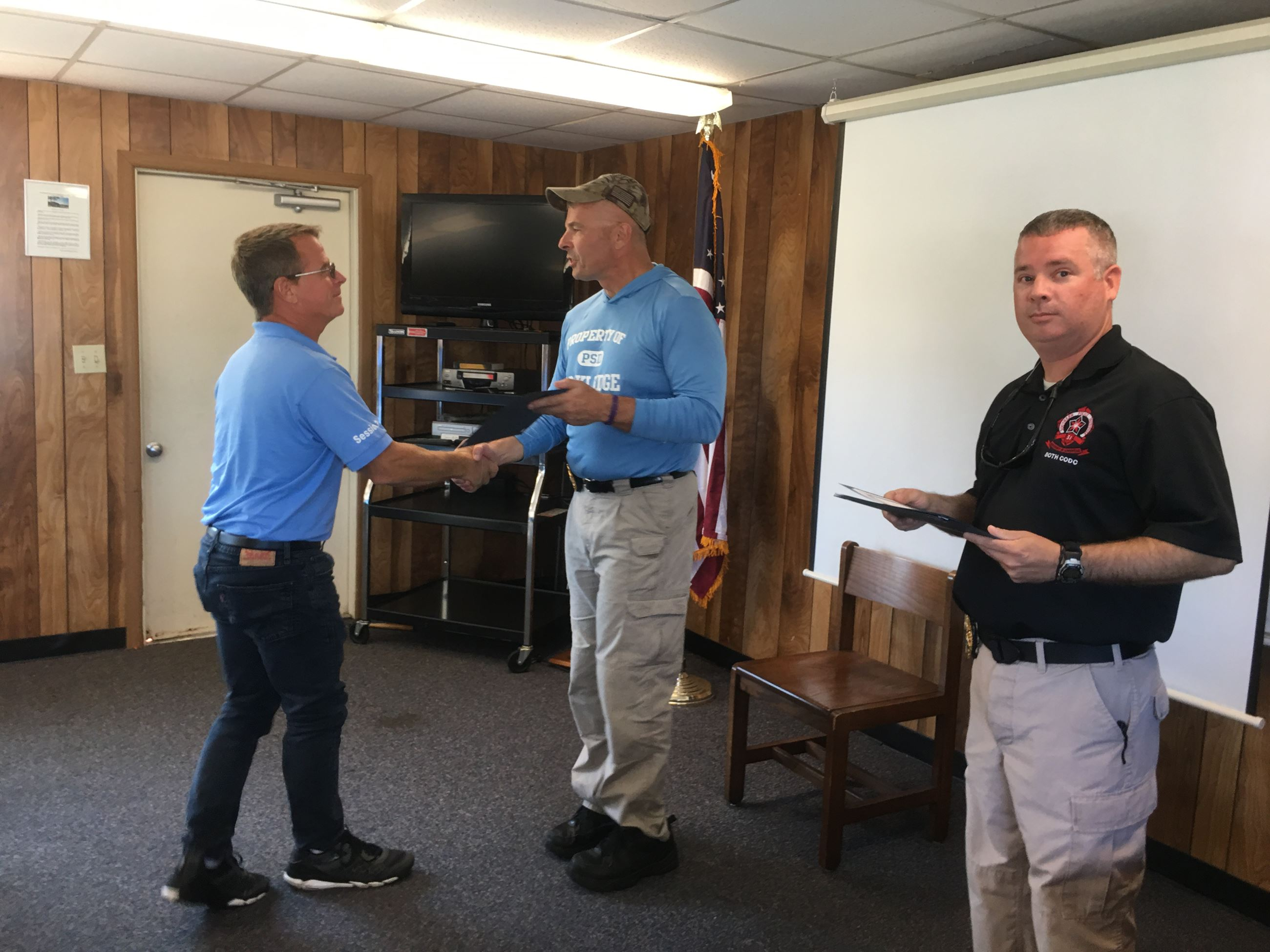 Citizens Academy Participant Receiving Certificate