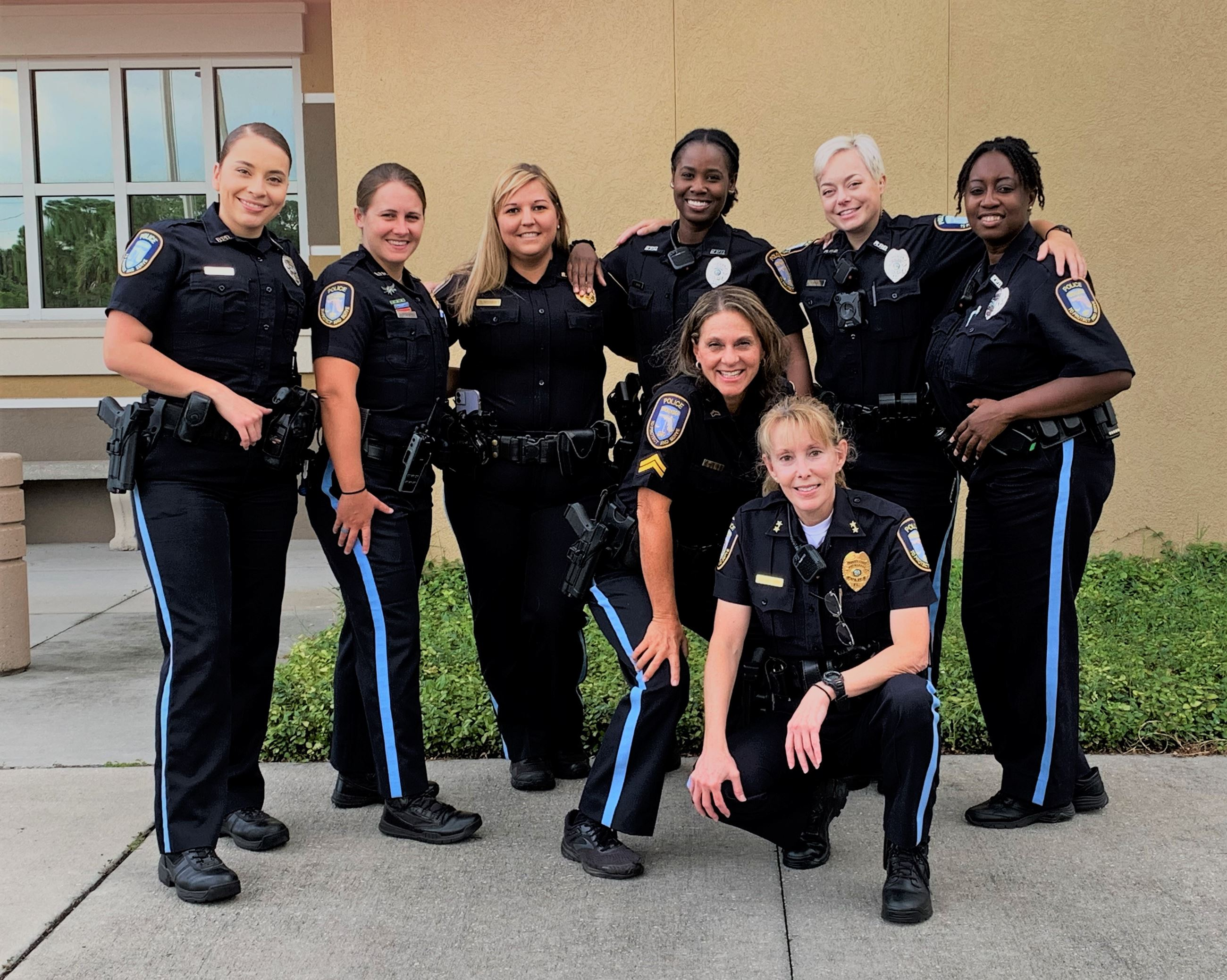 Female officers from Rockledge Police Department
