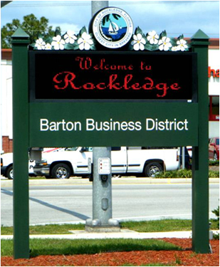 Barton Boulevard Business District Sign