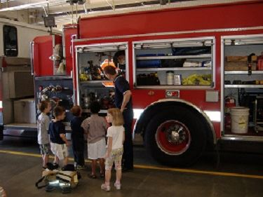 Kids at Fire Station Tour